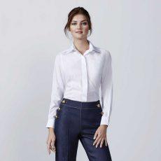 Camisa laboral manga larga mujer