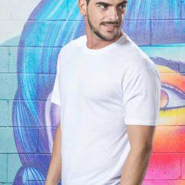 Camiseta Premium Blanca 4482 Hombre de Makito