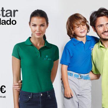 Oferta Polos Star bordados 9,50 €