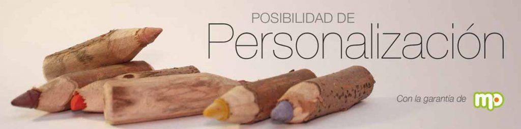 """banner con lápices con la frase """"posibilidad de personalización"""""""