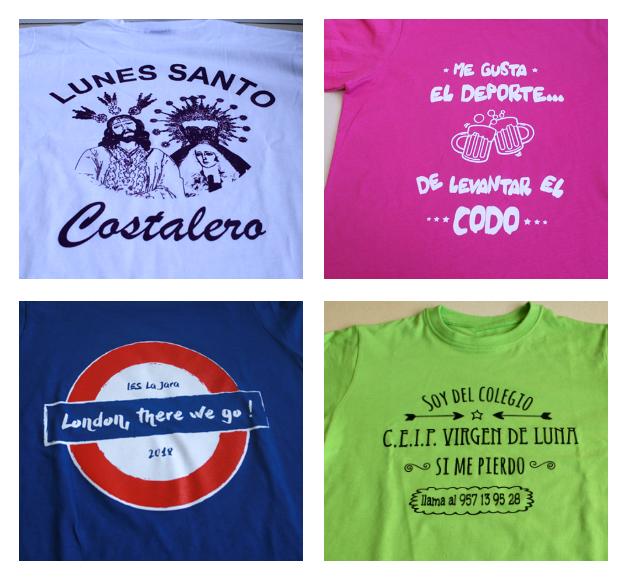 Camisetas baratas serigrafiadas