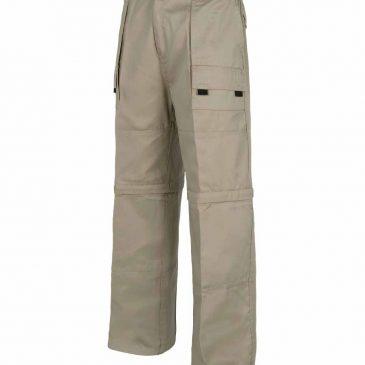 Pantalón laboral multibolsillos con perneras desmontables