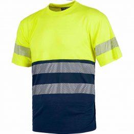Camiseta de alta visibilidad con reflectantes